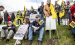 Flemish nationalists protest for jobs at Brussels Airport