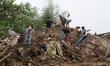 India landslide hill flush flood