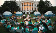 Obamas Host Girls Scouts at First-Ever White House Campout