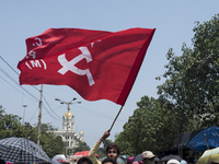Clashes Between Leftist activists and Police in Kolkata