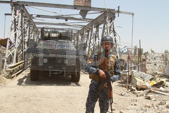 Iraqi soldiers in Mosul