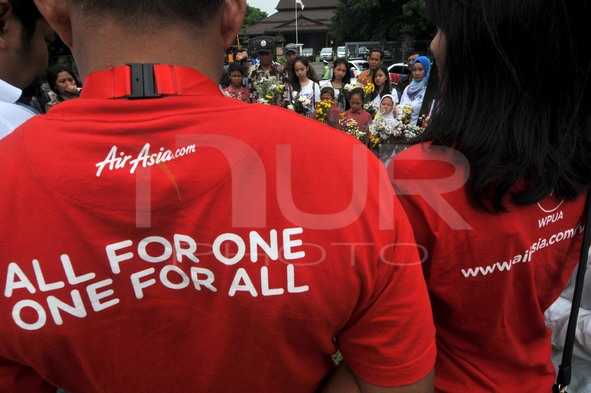 Ceremony to pray and remembrance the victims of AirAsia QZ8501