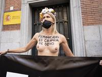 Femen Activists Protest In Madrid