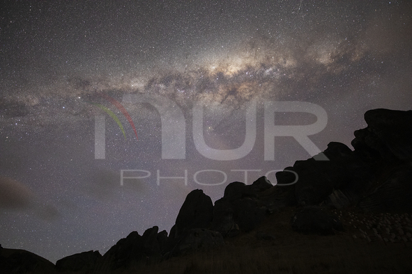 Milky Way Over The Castle Hill In New Zealand