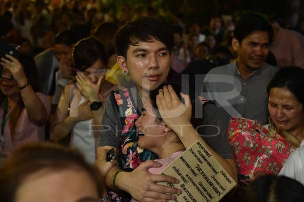 People Mourn For The Death Of Thai King Bhumibol Adulyadej In Bangkok