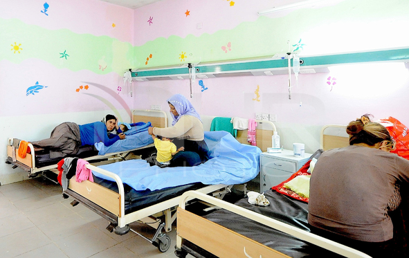Yazidi Children At Hospitals