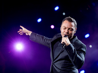 Tiziano Ferro performs live on stage in Salerno